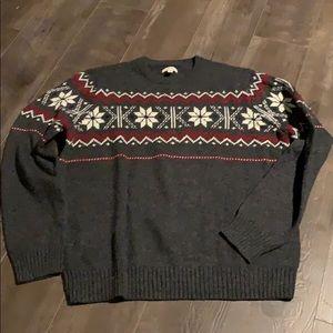 Sonoma men's snowflake sweater XL